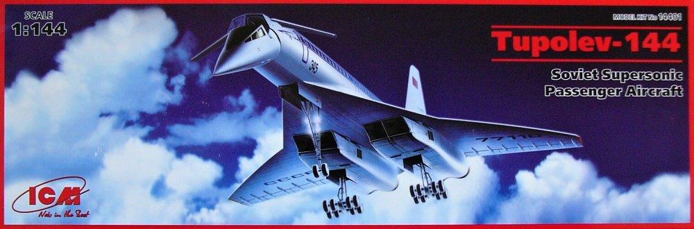 1:144 Tupolev Tu-144 Soviet Supersonic Aircraft