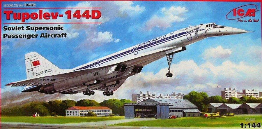 1:144 Tupolev Tu-144D Soviet Supersonic Aircraft