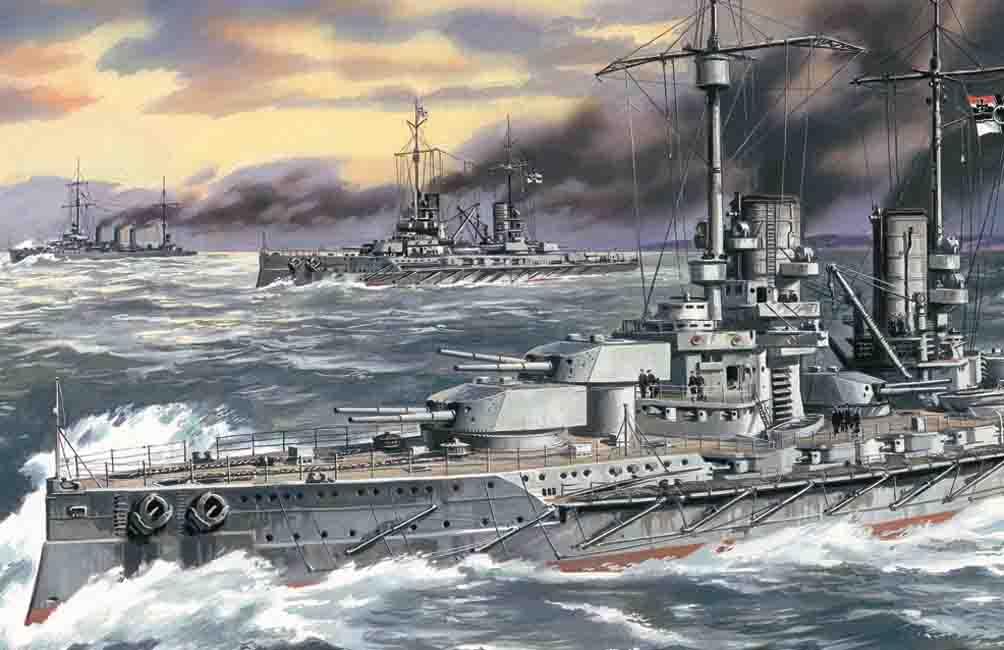 1:350 Grosser Kurfurst WWI German Battleship