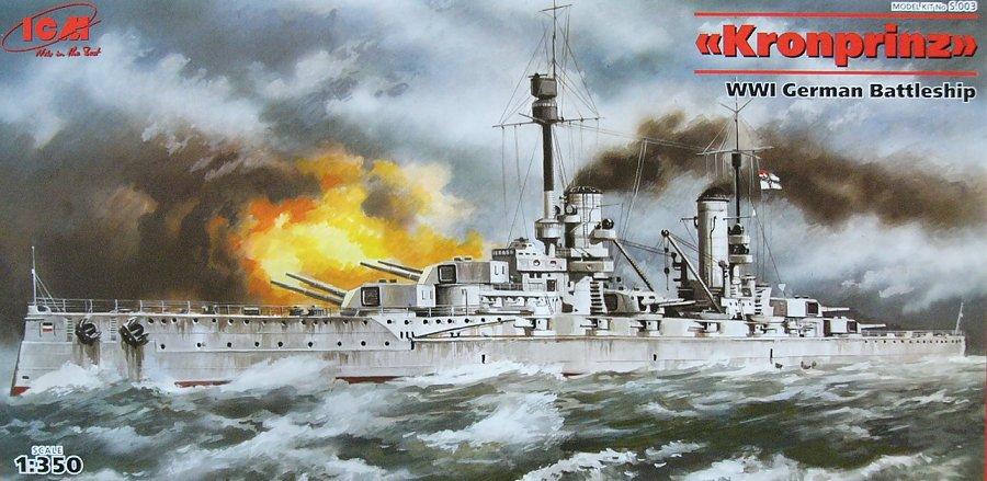 1:350 Kronprinz WWI German Battleship