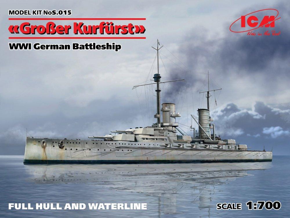1:700 Grosser Kurfürst WWI German Battleship