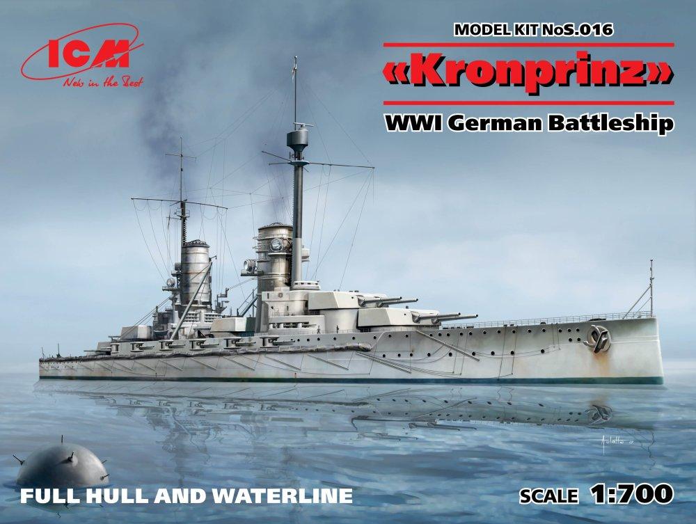 1:700 Kronprinz WWI German Battleship