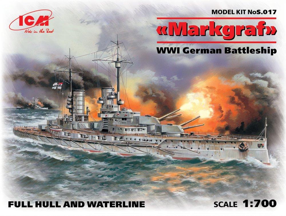 1:700 Markgraf WWI German Battleship