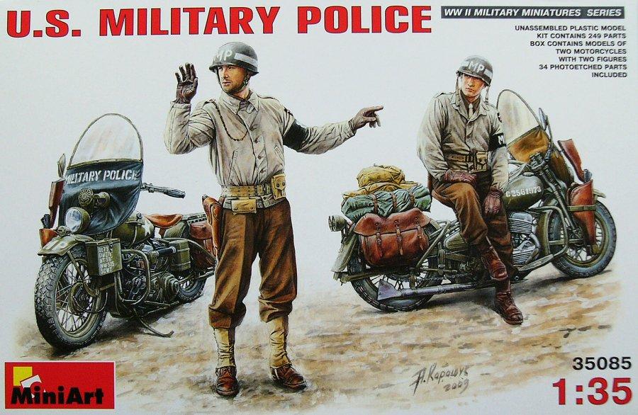 1:35 U.S. Military Police (2× Motorcycle & 2× Figure)