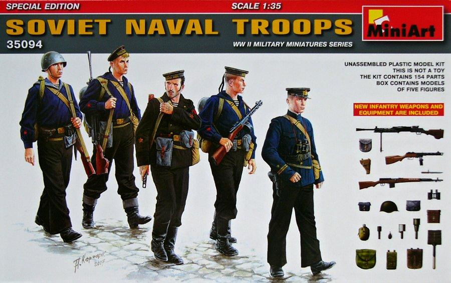 1:35 Soviet Naval Troops w/ Infantry Weapons (5 figúrok)