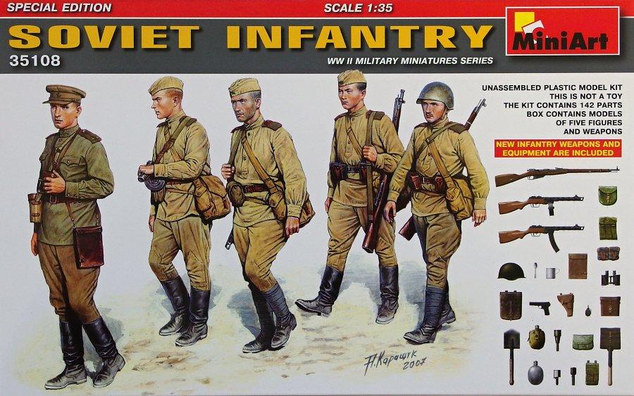 1:35 Soviet Infantry w/ Weapons