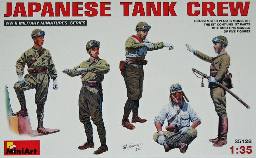 1:35 Japanese Tank Crew (5 figúrok)