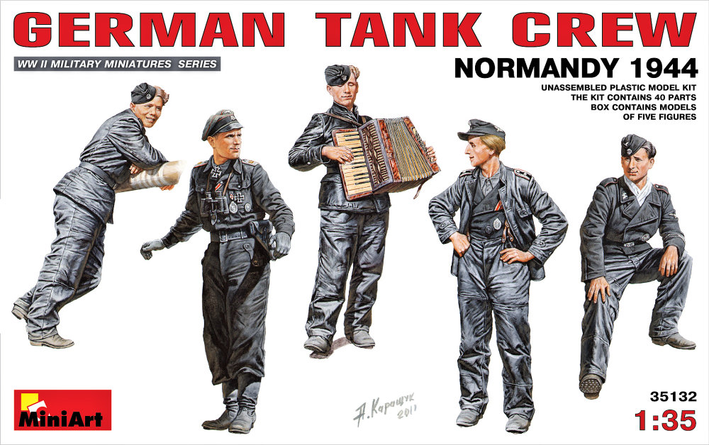 1:35 German Tank Crew (Normandy, 1944), 5 figurek