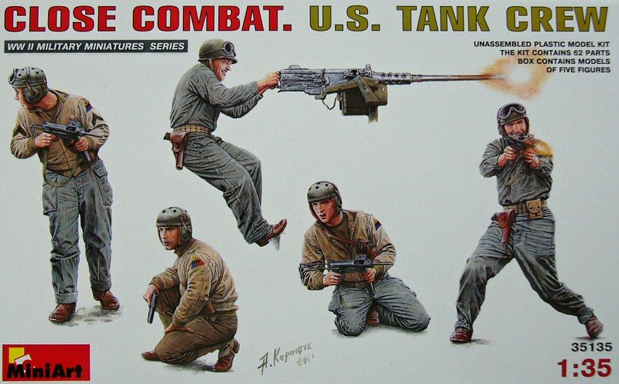 1:35 U.S. Tank Crew Close Combat (5 figurek)