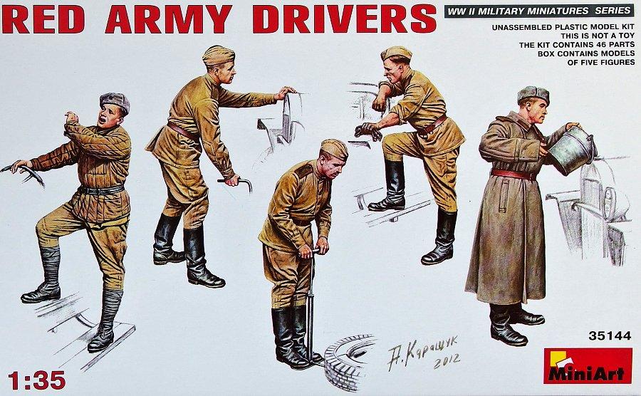 1:35 Red Army Drivers (5 figúrok)