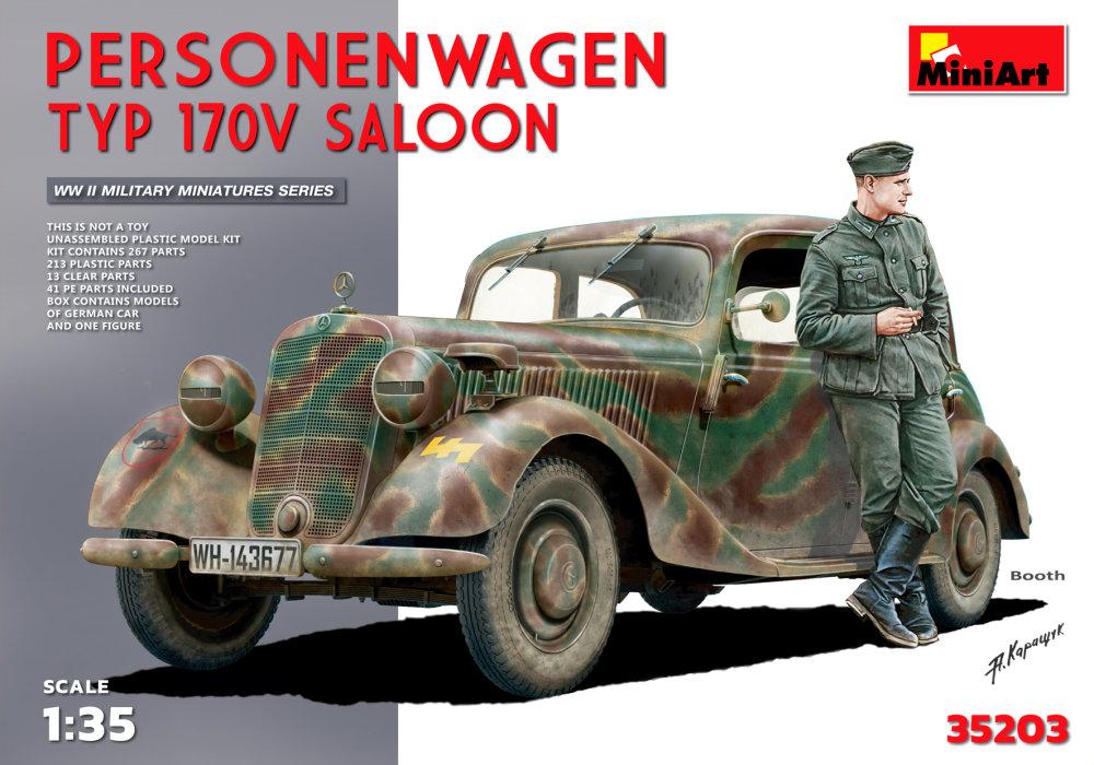 1:35 Personenwagen Typ 170V Saloon w/ Figure