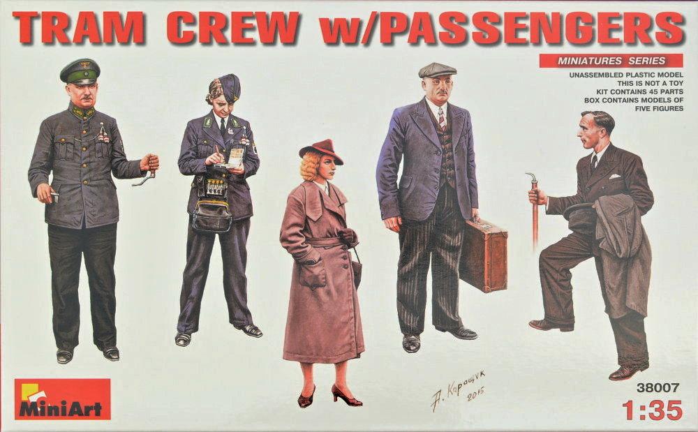 1:35 Tram Crew w/ Passengers (5 figúrok)