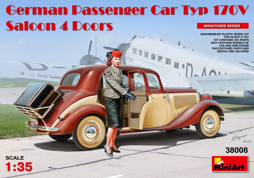 1:35 German Passenger Car Typ 170V Saloon 4 Doors