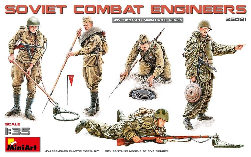 1:35 Soviet Combat Engineers (5 figúrok)