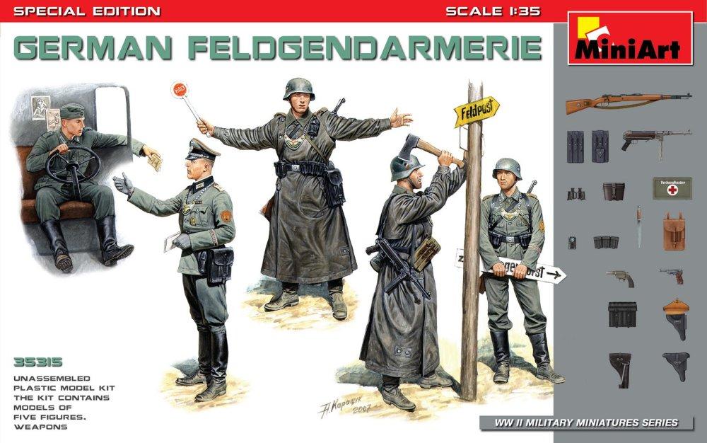 1:35 German Feldgendarmerie w/ Weapons (5 figúrok)
