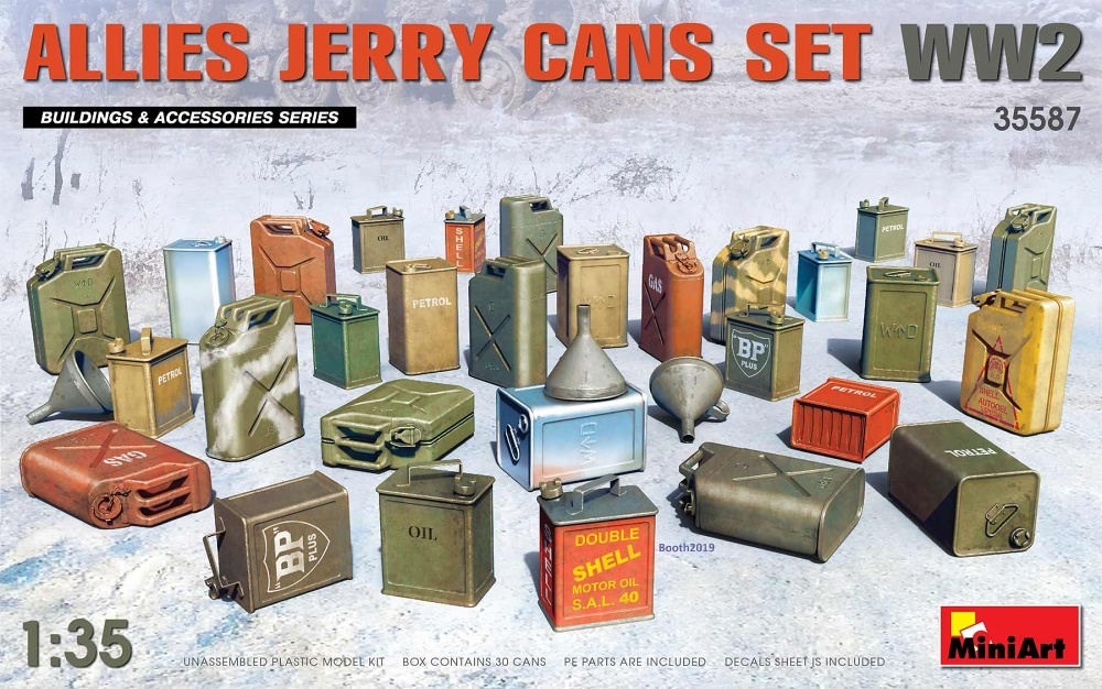 1:35 Allies Jarry Cans Set (WWII)