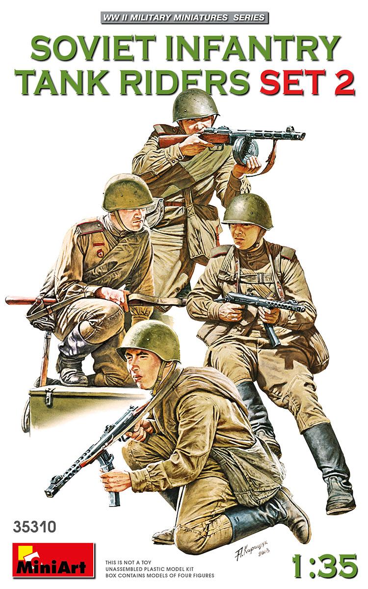 1:35 Soviet Tank Riders Set No.2 (4 figúrky)