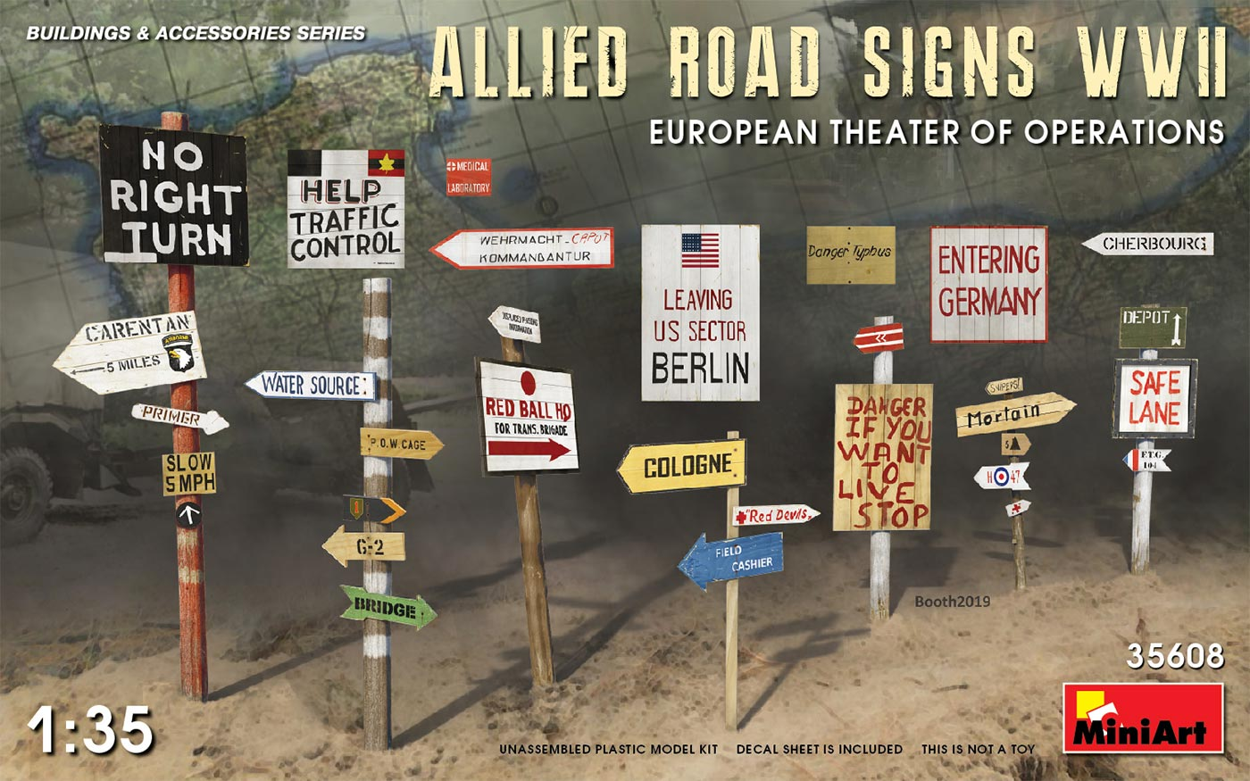1:35 Allied Road Signs (WWII)