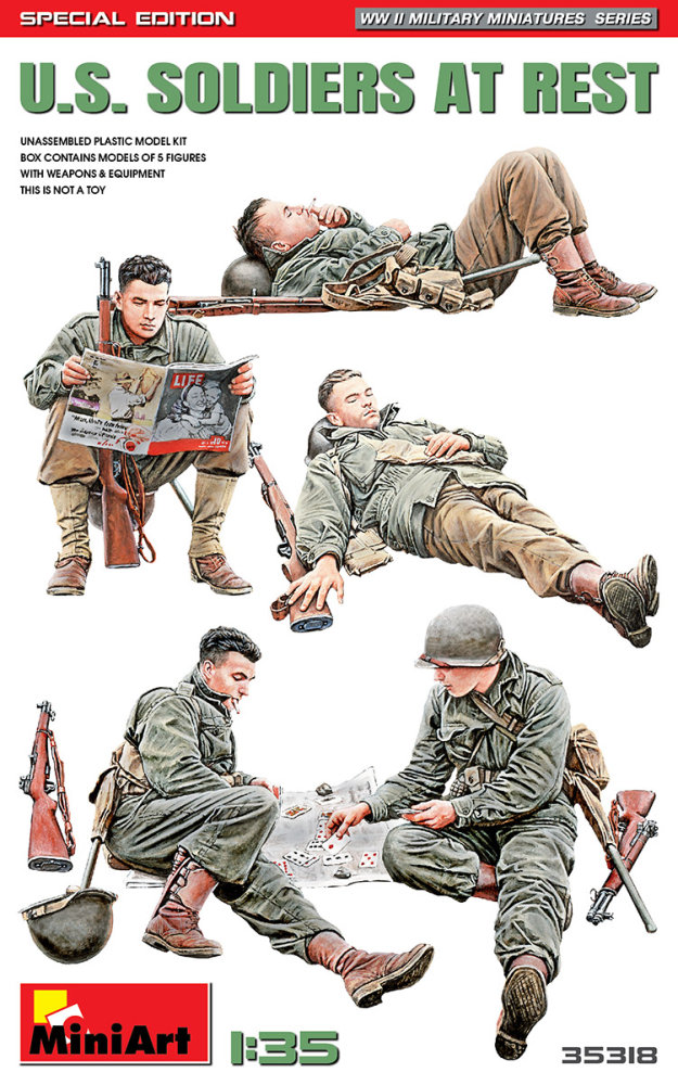 1:35 U.S. Soldiers at Rest (Special Edition) (5 figúrok)