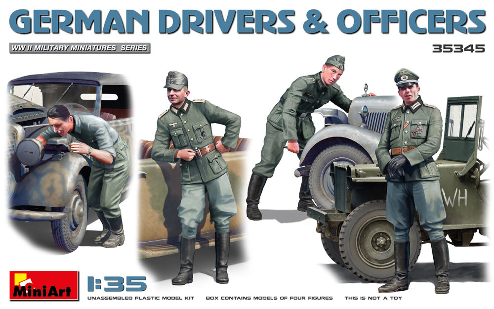 1:35 German Drivers and Officers (4 figúrky)