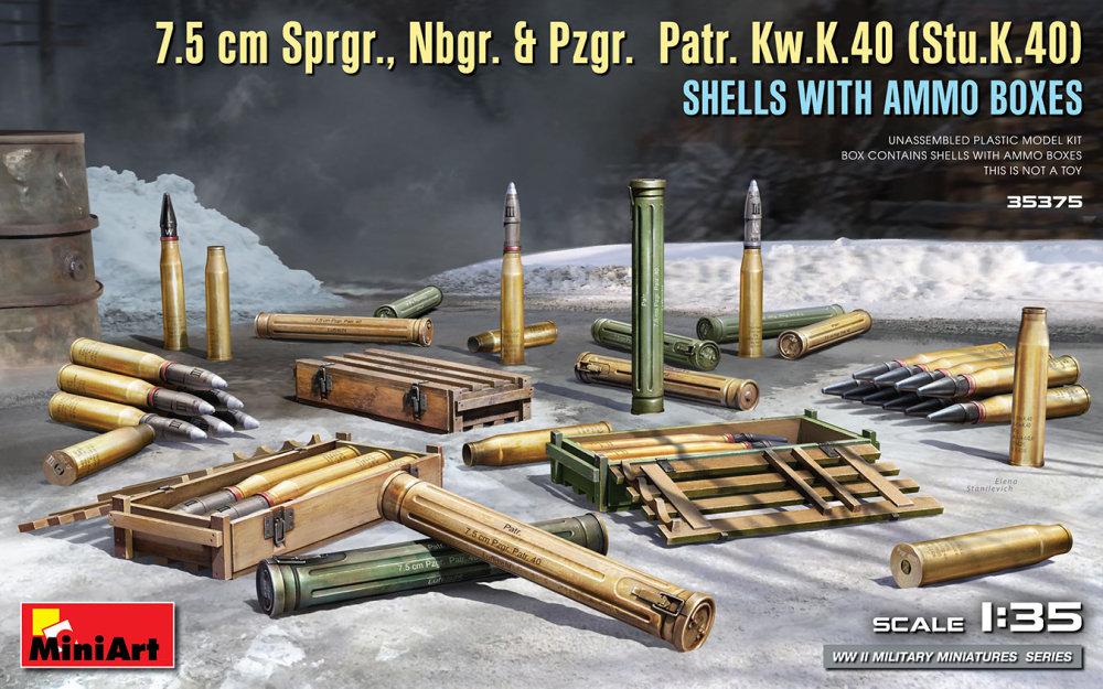 1:35 7.5cm Sprgr, Nbgr. & Pzgr. Patr. Kw.K.40 Shells
