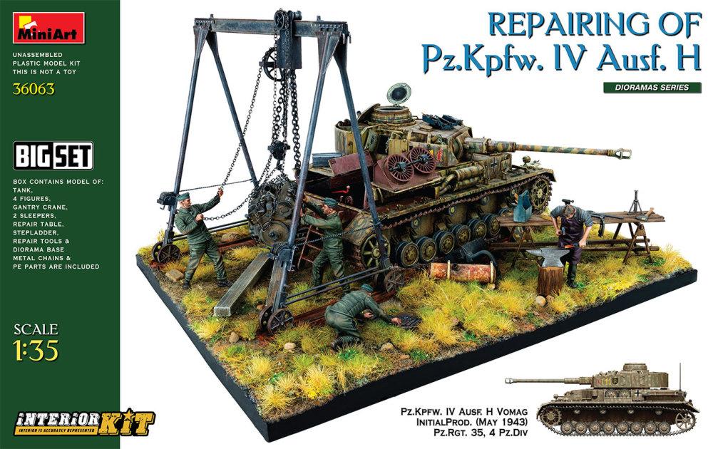 1:35 Repairing of Pz.Kpfw.IV Ausf. H. Diorama Set